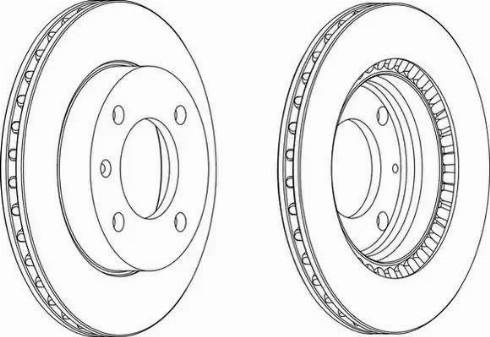 Ferodo DDF145 - Bremžu diski autodraugiem.lv