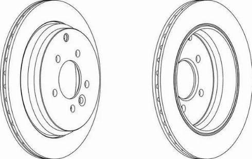 Ferodo DDF143-1 - Bremžu diski autodraugiem.lv