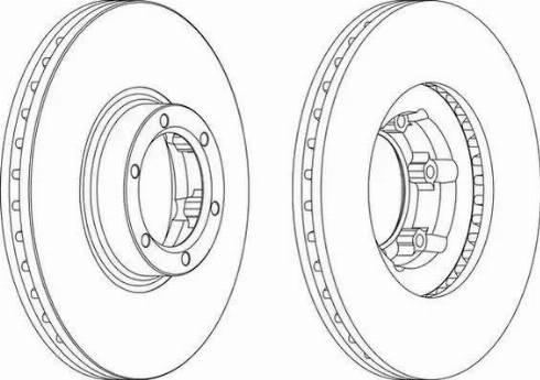 Ferodo DDF160 - Bremžu diski autodraugiem.lv