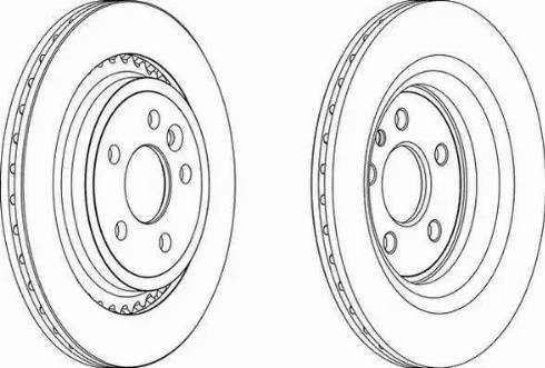 Ferodo DDF168-1 - Bremžu diski autodraugiem.lv