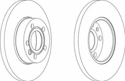 Ferodo DDF101-1 - Bremžu diski autodraugiem.lv