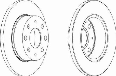Ferodo DDF112 - Bremžu diski autodraugiem.lv