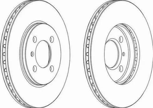 Ferodo DDF182 - Bremžu diski autodraugiem.lv