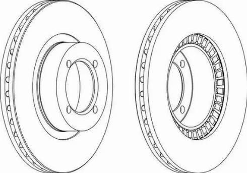 Ferodo DDF305 - Bremžu diski autodraugiem.lv