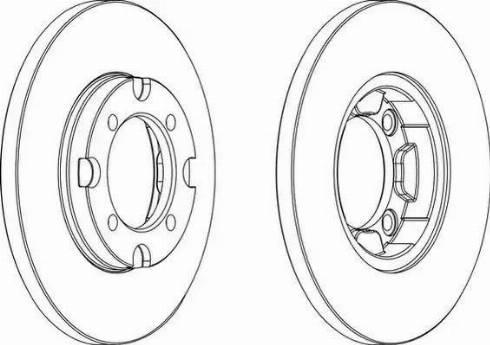 Ferodo DDF376 - Bremžu diski autodraugiem.lv