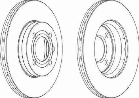 Ferodo DDF207 - Bremžu diski autodraugiem.lv
