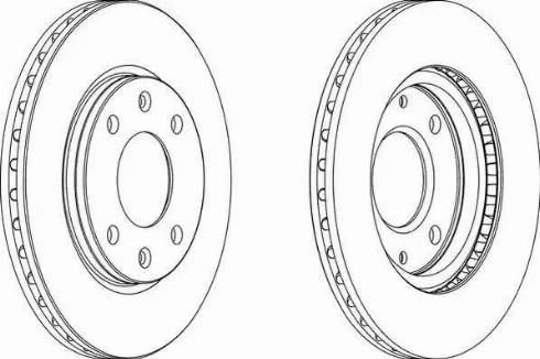 Ferodo DDF214 - Bremžu diski autodraugiem.lv