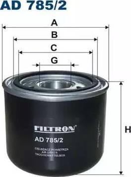 Filtron AD785/2 - Gaisa sausinātāja patrona, Gaisa kompresors autodraugiem.lv