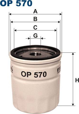 Filtron OP570T - Eļļas filtrs autodraugiem.lv
