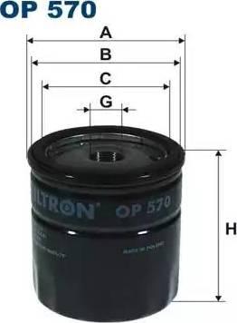 Filtron OP570 - Eļļas filtrs autodraugiem.lv