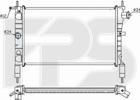 FPS FP 52 A273 - Radiators, Motora dzesēšanas sistēma autodraugiem.lv