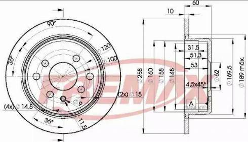 FREMAX BD-9581 - Bremžu diski autodraugiem.lv