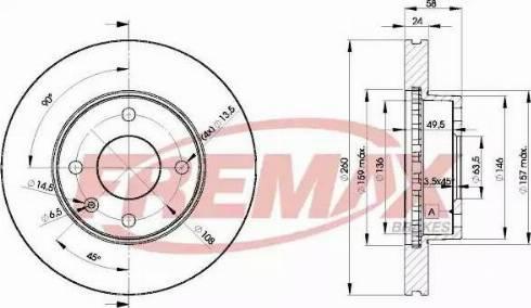 FREMAX BD-9794 - Bremžu diski autodraugiem.lv