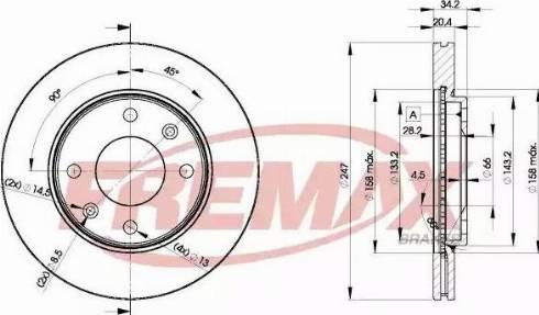 FREMAX BD-4694 - Bremžu diski autodraugiem.lv