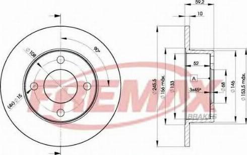 FREMAX BD-4010 - Bremžu diski autodraugiem.lv