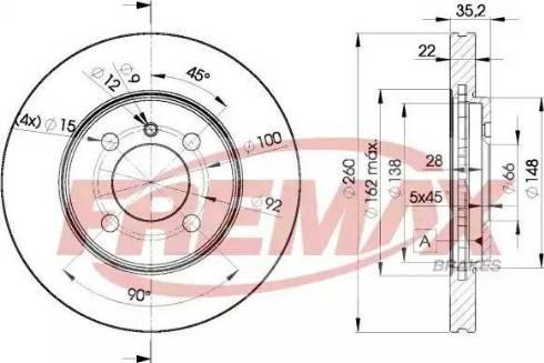 FREMAX BD-4749 - Bremžu diski autodraugiem.lv