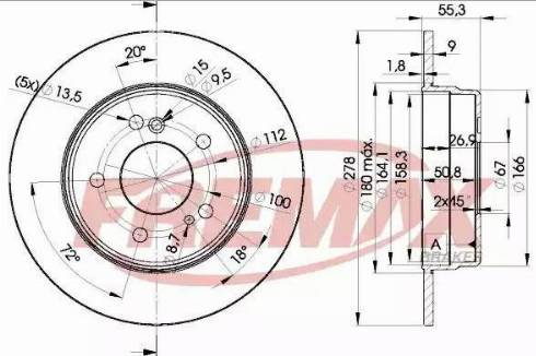 FREMAX BD-0412 - Bremžu diski autodraugiem.lv