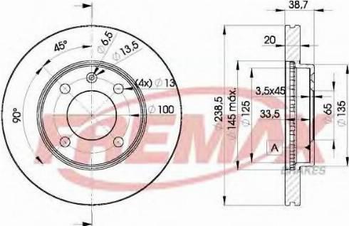 FREMAX BD-3975 - Bremžu diski autodraugiem.lv