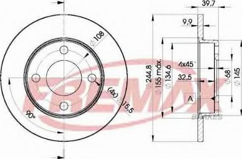 FREMAX BD-3636 - Bremžu diski autodraugiem.lv