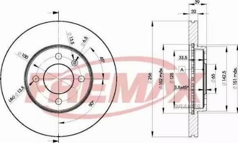 FREMAX BD-3790 - Bremžu diski autodraugiem.lv
