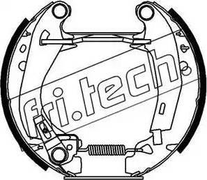 Fri.Tech. 16090 - Bremžu komplekts, trumuļa bremzes autodraugiem.lv