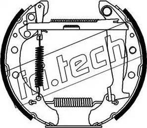 Fri.Tech. 16087 - Bremžu komplekts, trumuļa bremzes autodraugiem.lv