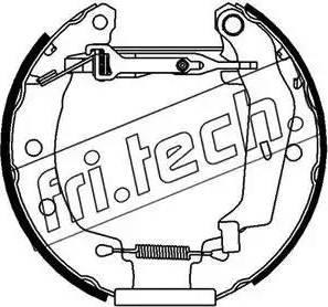 Fri.Tech. 16149 - Bremžu komplekts, trumuļa bremzes autodraugiem.lv