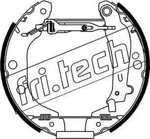Fri.Tech. 16157 - Bremžu komplekts, trumuļa bremzes autodraugiem.lv