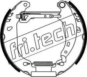 Fri.Tech. 16162 - Bremžu komplekts, trumuļa bremzes autodraugiem.lv