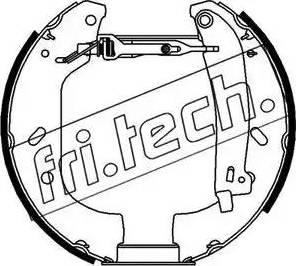 Fri.Tech. 16102 - Bremžu komplekts, trumuļa bremzes autodraugiem.lv