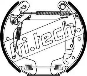 Fri.Tech. 16118 - Bremžu komplekts, trumuļa bremzes autodraugiem.lv