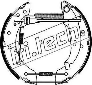Fri.Tech. 16182 - Bremžu komplekts, trumuļa bremzes autodraugiem.lv