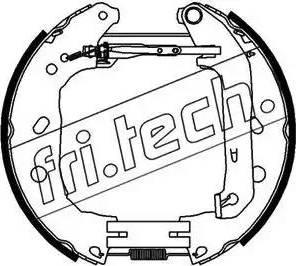 Fri.Tech. 16395 - Bremžu komplekts, trumuļa bremzes autodraugiem.lv