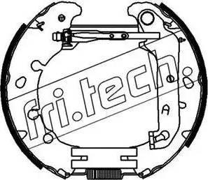 Fri.Tech. 16391 - Bremžu komplekts, trumuļa bremzes autodraugiem.lv