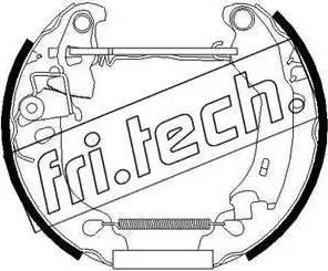 Fri.Tech. 16250 - Bremžu komplekts, trumuļa bremzes autodraugiem.lv