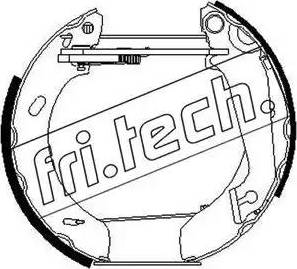 Fri.Tech. 16265 - Bremžu komplekts, trumuļa bremzes autodraugiem.lv