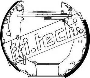 Fri.Tech. 16267 - Bremžu komplekts, trumuļa bremzes autodraugiem.lv