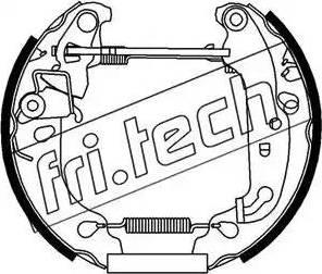 Fri.Tech. 16239 - Bremžu komplekts, trumuļa bremzes autodraugiem.lv
