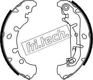 Fri.Tech. 1040.149 - Bremžu komplekts, trumuļa bremzes autodraugiem.lv
