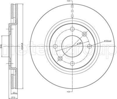 Fri.Tech. BD0257 - Bremžu diski autodraugiem.lv