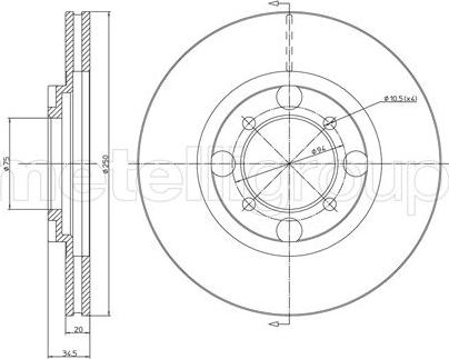 Fri.Tech. BD0285 - Bremžu diski autodraugiem.lv