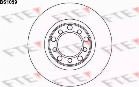 FTE BS1059 - Bremžu diski autodraugiem.lv