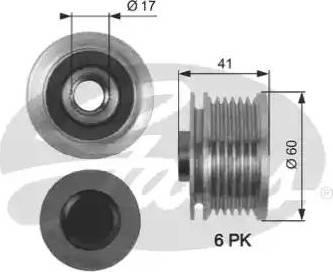 Gates OAP7147 - Ģeneratora brīvgaitas mehānisms autodraugiem.lv