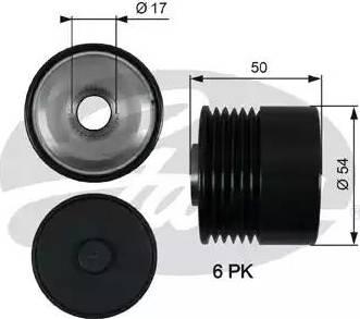 Gates OAP7188 - Ģeneratora brīvgaitas mehānisms autodraugiem.lv