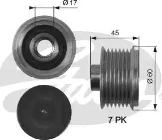 Gates OAP7136 - Ģeneratora brīvgaitas mehānisms autodraugiem.lv