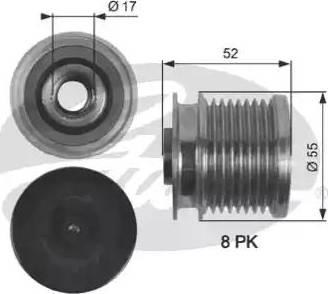 Gates OAP7123 - Ģeneratora brīvgaitas mehānisms autodraugiem.lv