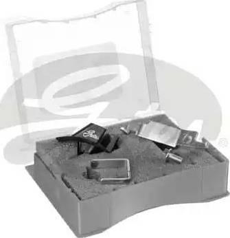 Gates SFT007 - Montāžas komplekts, Ķīļrievu siksna autodraugiem.lv