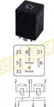 Gebe 9 9386 1 - Relejs, Gaisa kondicionēšanas sistēma autodraugiem.lv