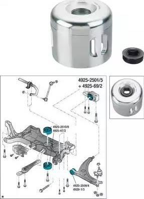 HAZET 4925-69/2 - Montāžas instrumentu komplekts, Sailentbloks autodraugiem.lv