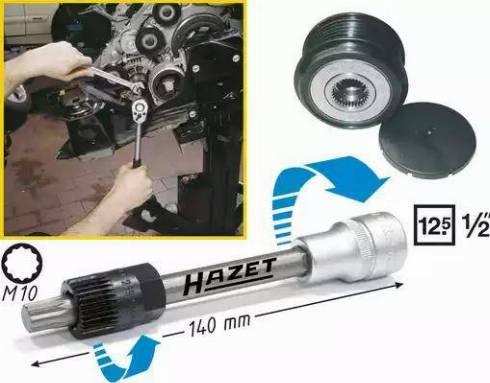 HAZET 4641/2 - Montāžas komplekts, Ķīļrievu siksna autodraugiem.lv